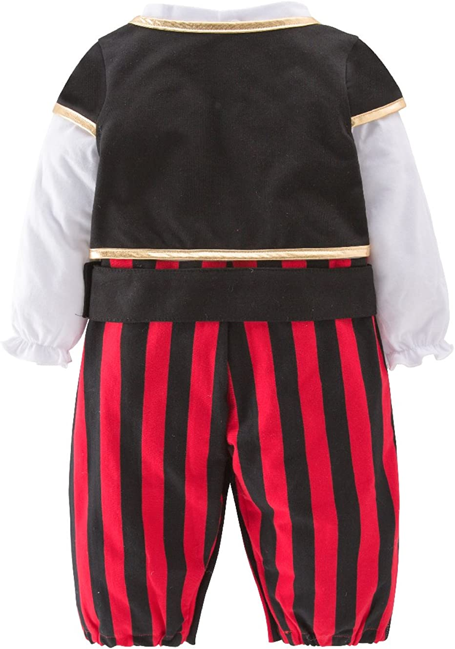 Mays Baby Boys Captain Infant Costumes Cap Stinker Pirate Costume 4pcs Set