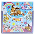 1 X Japanese Figured Paper Chiyogami Origami Paper Pokemon Eevee Japan imports (16 pieces per pattern)