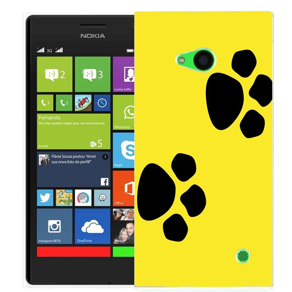 pheonix impreso carcasa de silicona para Nokia Lumia 730 - silicona amarillo Dual Paw: Amazon.es: Electrónica