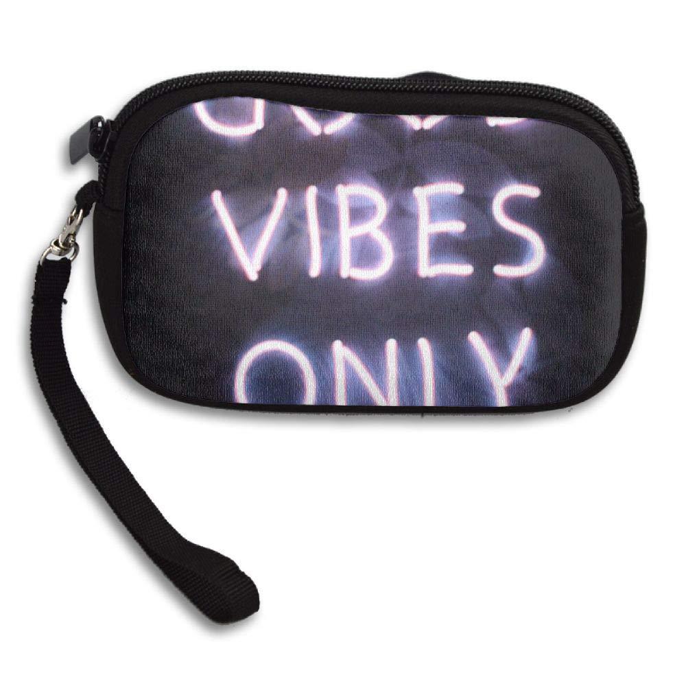 HACVREQ Unisex Personalized Wallet,Good Vibes Only Purse Bag Woman Ladies Men Gentlemen