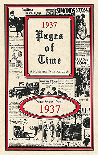 1937 Pages of Time KardLet (PT1937)
