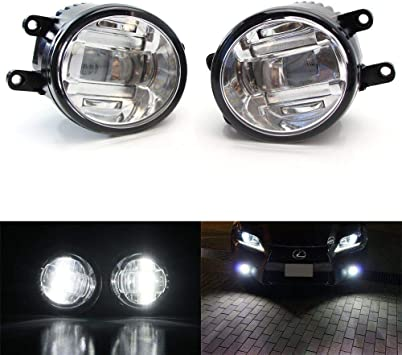 6000k Built-in LED Fog Light Kit w// DRL /& Wiring Fit 2010-2014 Toyota Prius