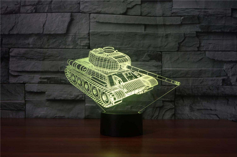 Creative Rc Modelo Tanques Luz De Noche 3D Tanque Militar Coche Lámpara Visual Lámpara De Noche Colorida Mejor Regalo Para Niños Niños: Amazon.es: Iluminación
