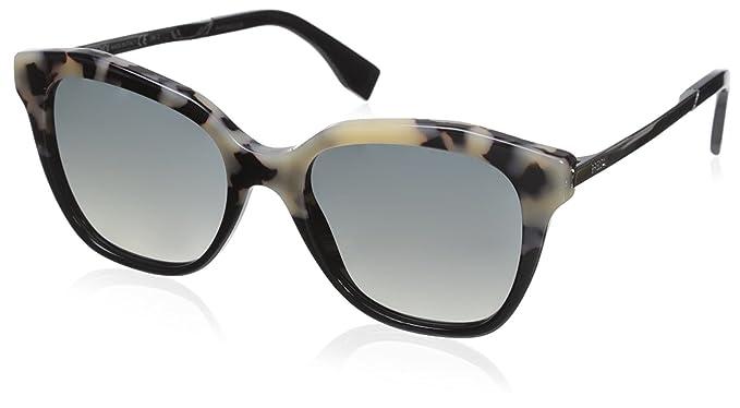 Fendi FF 0089/S DX Gafas de Sol, Hvn Blk Ruth, 52 para Mujer ...