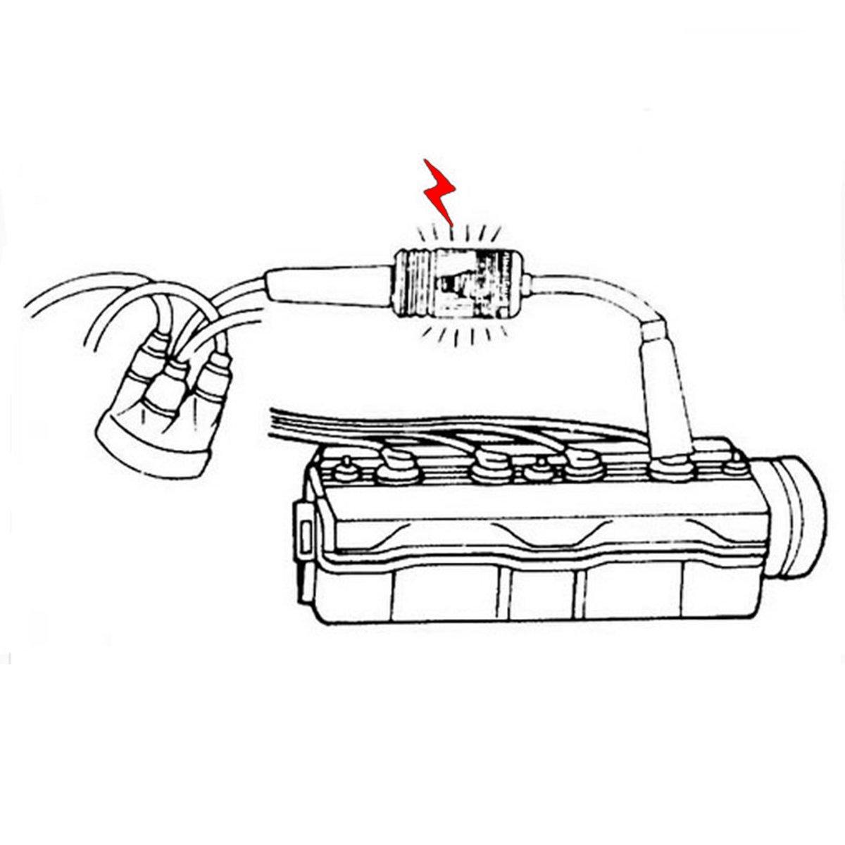 cortac/ésped para autom/óviles motores internos y externos peque/ños y grandes herramienta de diagn/óstico de bobina de recogida//armadura Comprobador de buj/ía de encendido del motor en l/ínea