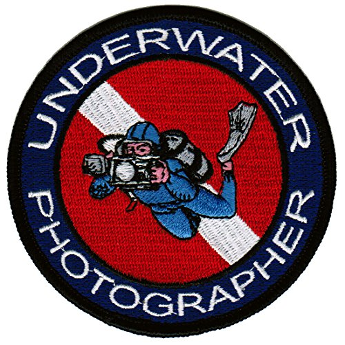 Underwater Photographer Patch Embroidered Iron-On Scuba Diving Photography Emblem Souvenir