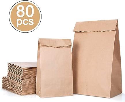 MELLIEX Bolsas de Papel, 80 Piezas Bolsa Biodegradable Contiene 2 ...