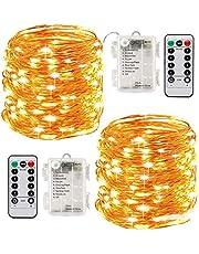 Stringa Luci Led,[2 Pack]Catene Luminose 10 metri 100LEDs Stringa Luci LED Impermeabile IP65 per Uso Interno ed Esterno per Decorazioni Festive e Natale