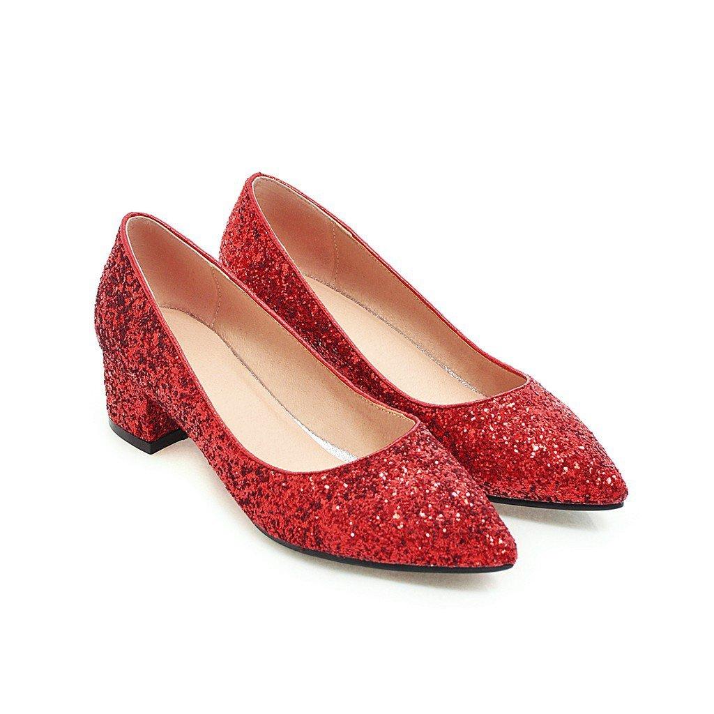 QIN&X Talon Bloc Femmes Chaussures Chaussures Bouche Peu Profonde