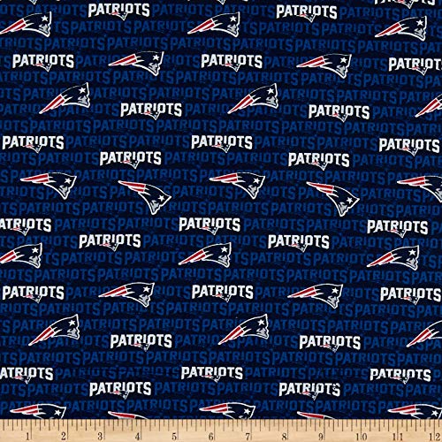 Traditions NFL Cotton Broadcloth New England Patriots Mini Navy, Fabric by the Yard (Yard New)