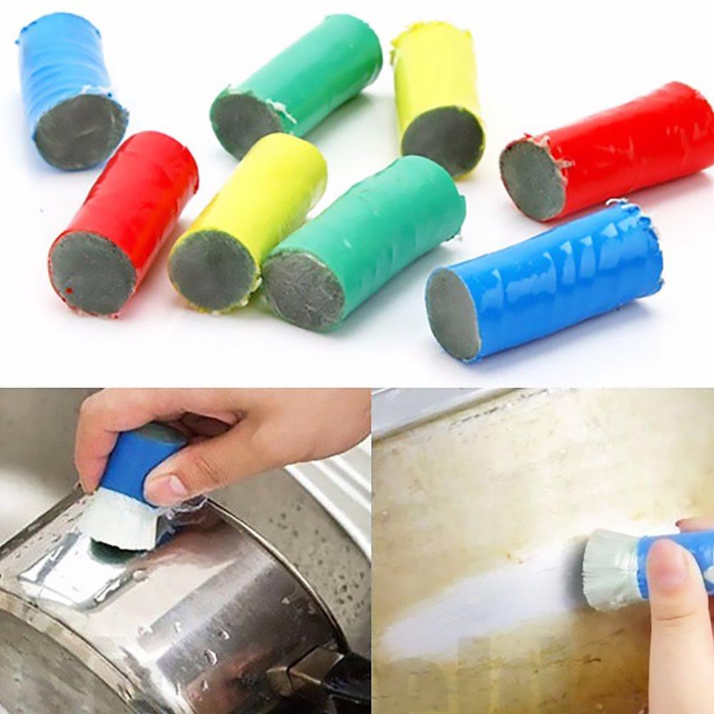 TrifyCore Cepillo de Limpieza de /Óxido de Barra de Descontaminaci/ón de Acero Inoxidable Color Aleatorio 2pcs