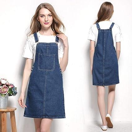 super cheap compares to official enjoy cheap price Dungaree Dress Women Girls Denim Pinafore Dresses for Women ...