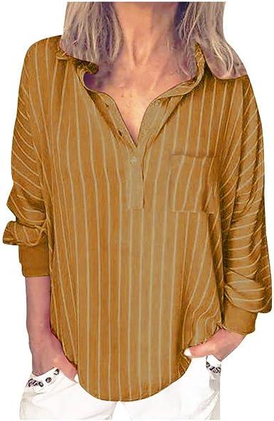 Camisas Mujer Elegantes Tallas Grandes Camiseta Casual Tops Blusas De Fiesta Vestido Camisero Largo con Botones Sueltos para Mujer Outwear Camiseta Mujer Talla Grande Camisa con Botones: Amazon.es: Ropa y accesorios
