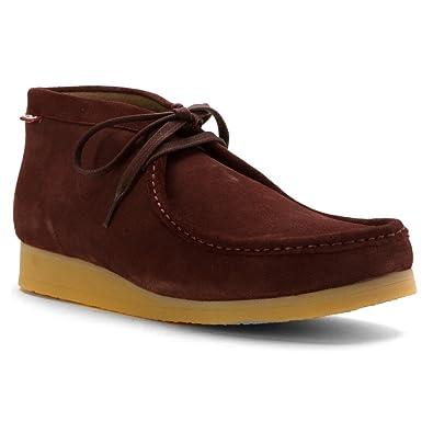 Clarks Stinson Hi Men US 9.5 Burgundy Moc Chukka Boot
