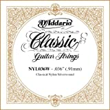 D\'Addario NYL036W Silver-plated Copper Classical Single String, .036