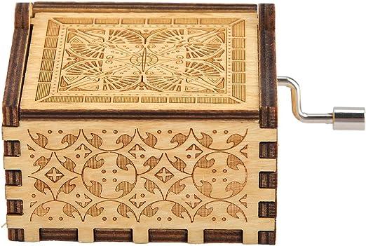 Huakii Caja de música de Madera Tallada clásica, Caja Musical de ...