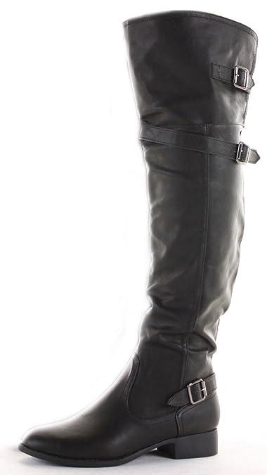 shoeFashionista Damen WinterStiefel Overknee Stiefel Schuhe Flach Größe 36 41