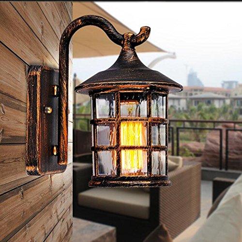 Vanme Rustico Antico Muro Di Ferro Impermeabile Lampada Lampada Da