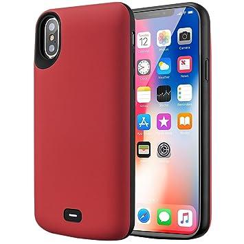 Cofuture Funda Bateria para iPhone X, Capacidad Grande 5000mAh Recargable Cargador Batería Extra Ultra Delgado Prueba de Choques Potencia iPhone Móvil ...