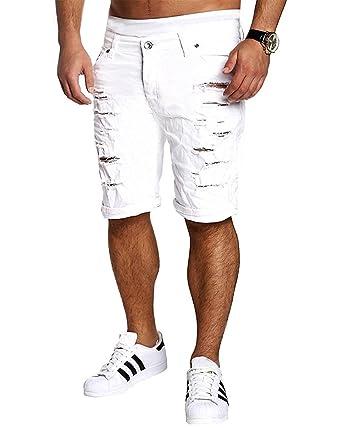 vente de sortie code promo valeur formidable Tomsent 2017 Homme Skinny Bermuda Trous Jeans Straight Fit Pantacourt  Déchiré Styles Destroyed Denim Slim Fit Serré Shorts Men Pants