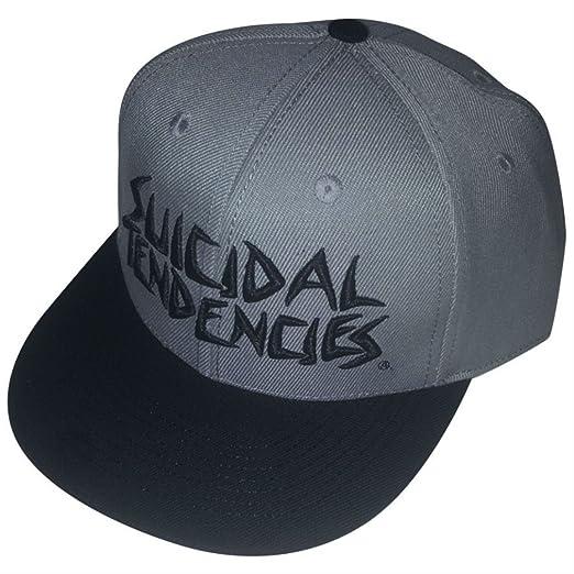 c025e3194be SMC Official Suicidal Tendencies Full Embroidered Custom Snapback Baseball  Hats OG Flip Up Cap Trucker Skater (Grey) at Amazon Men s Clothing store