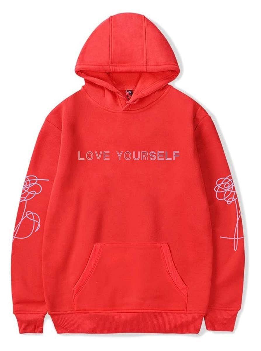 SIMYJOY P/ärchen Bangtan Boys Hoodie BTS Love Yourself Cool Hip Pop KPOP Kapuzenpullover f/ür Liebespaar M/änner Damen Teenager Jugendliche