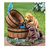 Pro-G Garden Statue Water Fountain Charming design features realistic two curious pups