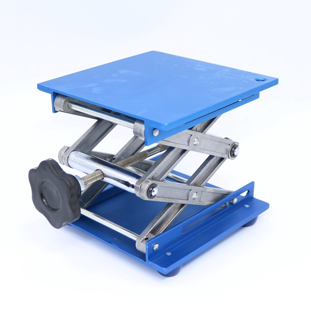 6' Aluminum Lab-Lift Lifting Platforms Stand Rack Scissor Lab Jack 150x150x250mm MBLUE