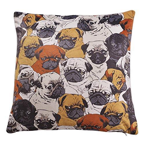 "UPC 710373412897, nioBomo Super Soft Double Face Printing Pug Dogs Decorative Velvet Throw Pillowcase Pillow Cover Cushion Cover 18"" X 18"""