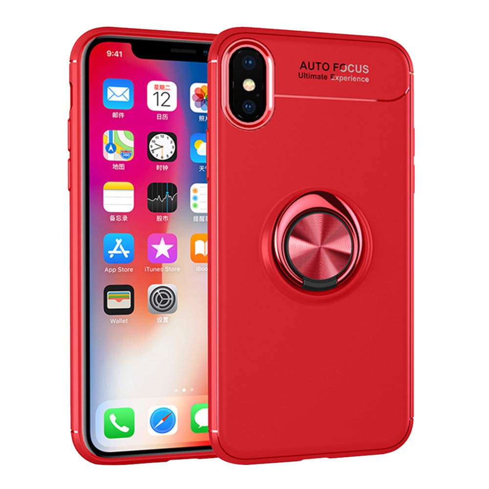 Amazon.com: DEESEE(TM) New🌸For Apple iPhone Xs Car Bracket Magnet Case With Ring Kickstand Holder 5.8 inch (D): PC: Video Games