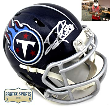 Amazon.com  Derrick Henry Autographed Signed Tennessee Titans Riddell Mini  NFL Blue Speed Helmet  Sports Collectibles 4103ddb7e