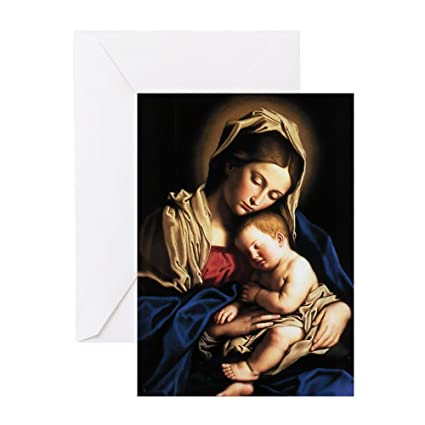 Amazon Cafepress Madonna And Child Greeting Card 20 Pack
