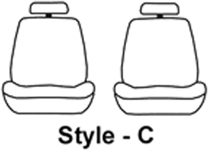 Covercraft SeatSaver Front Row Polycotton Charcoal Charcoal SS2503PCCH