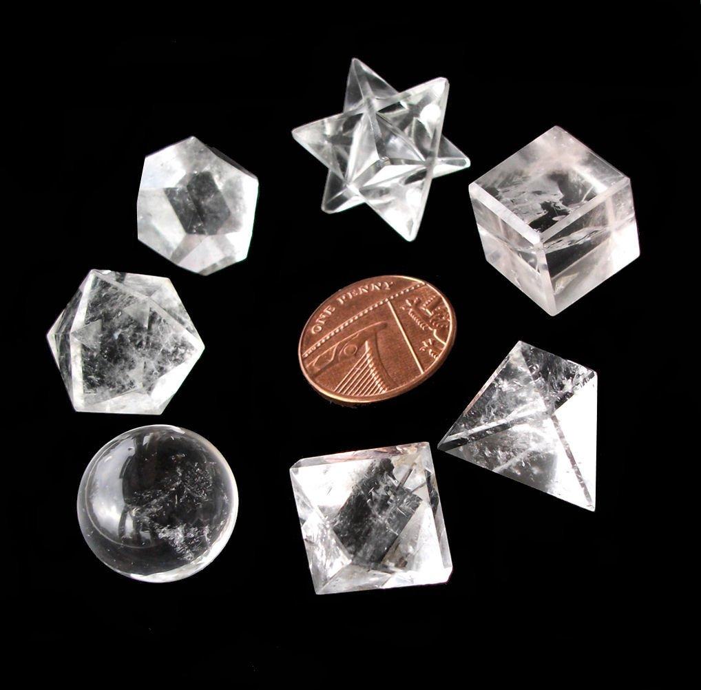 7 cristales de roca de cuarzo