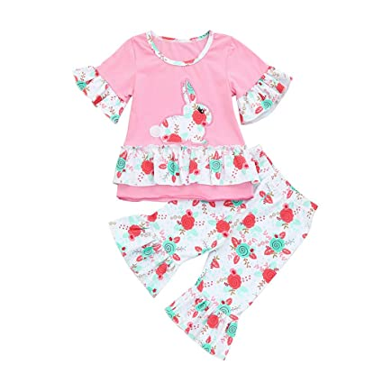da0ef30fa Image Unavailable. Image not available for. Color: Toddler Infant Baby  Girls Easter Clothes ...