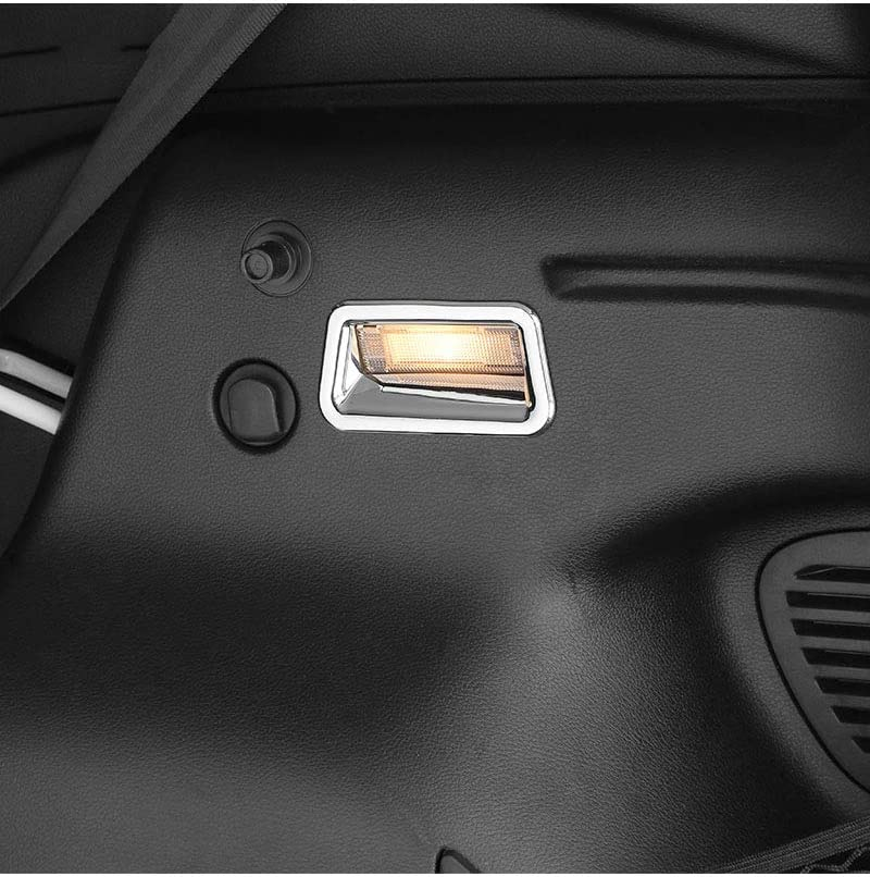 LLHAI Decoraci/ón de la l/ámpara de Cola del Interior del Coche Posterior del Tronco Caja de luz Cubierta Pegatinas con Jeep Renegade 2015 hasta Coche Accesorios de Estilo,Cromo