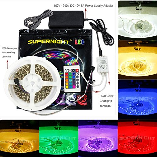 bzone-5m164ft-rgb-color-changing-ip68-waterproof-underwater-submersible-flexible-led-strip-lights-ou
