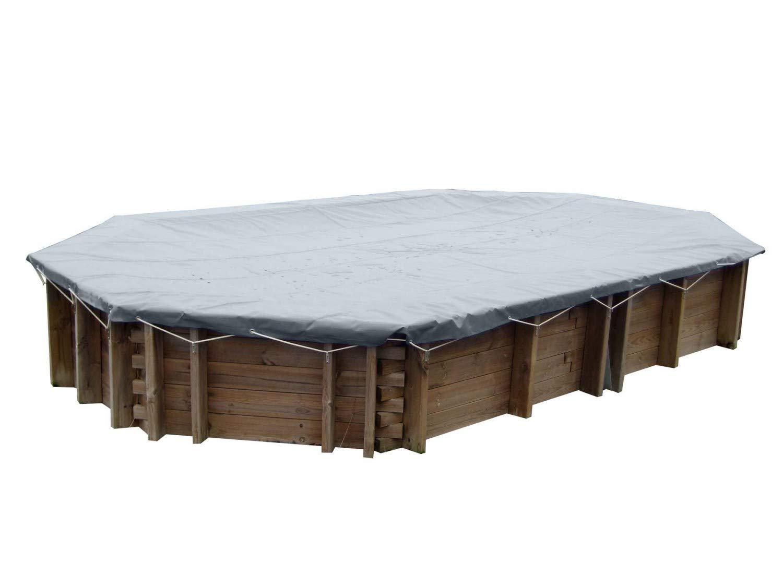 Gre 788925 - Cubierta de Invierno - Piscina Madera rectangulare Carra 300 x 300 cm 580 g/m2: Amazon.es: Jardín