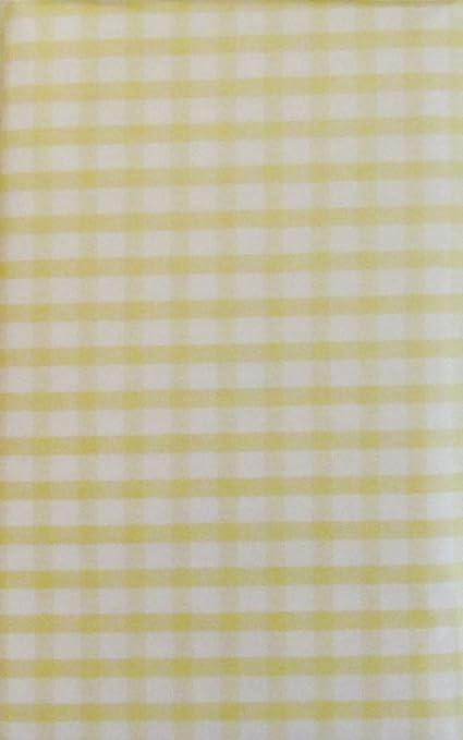 Beautiful Gingham Check Vinyl Flannel Back Tablecloth (Pale Yellow, 52u0026quot; X  90u0026quot; ...