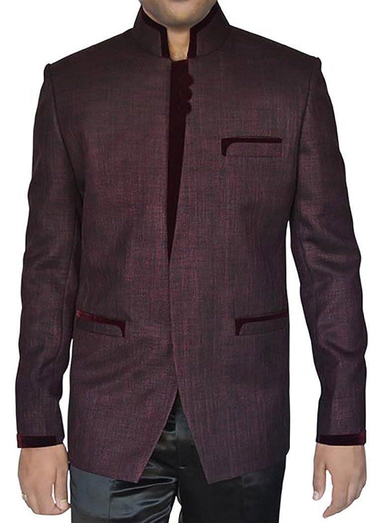 INMONARCH Mens Wine Jute 2 Pc Jodhpuri Suit Designer JO283