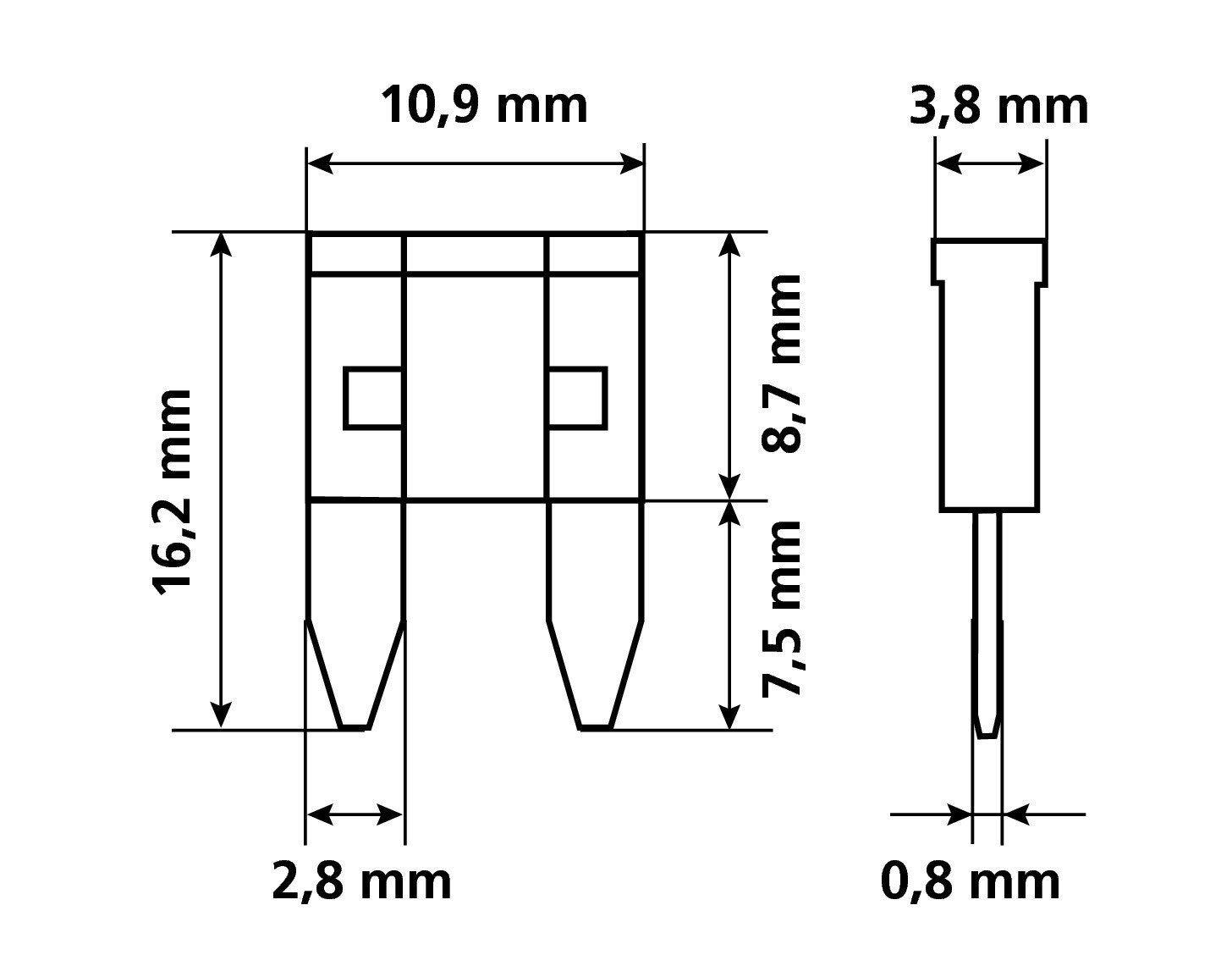 Lampa 70085 Mini Flachsteck-Sicherungen-Set