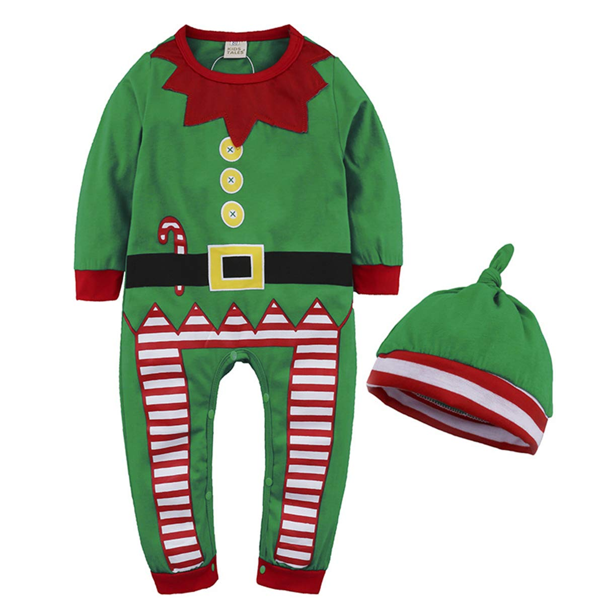Evaliana Newborn Baby Kids Merry Christmas Rompers Outfits Jumpsuit
