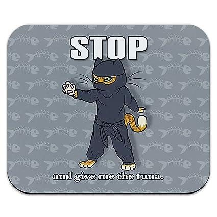 gracioso gato Ninja asesino atún pescado alfombrilla de ...