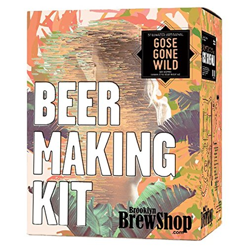 (Brooklyn Brew Shop/Stillwater Gose Gone Wild Beer Making Kit: All-Grain Set With Reusable Glass Fermenter, Brew Equipment, Ingredients (Malted Barley, Hops, Yeast) - Perfect to Brew Craft Beer At)