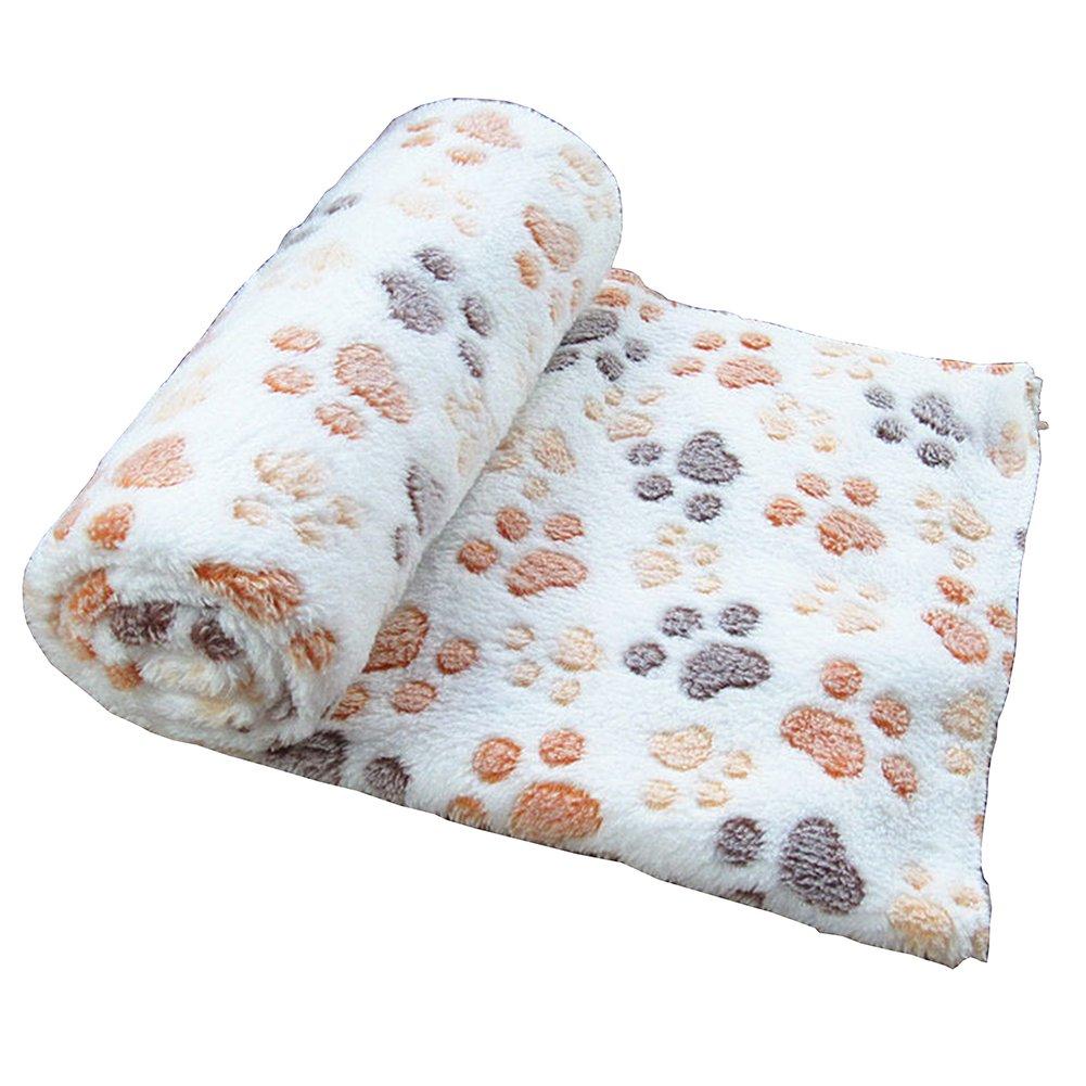 Gossipboy Motif pattes Couverture Coussin pour animal de compagnie Petit Chien Chat Lit doux chaud Dormir Tapis de chiot Chaton Couverture douce Doggy chaud Coussin de lit avec pattes de tapis de couette