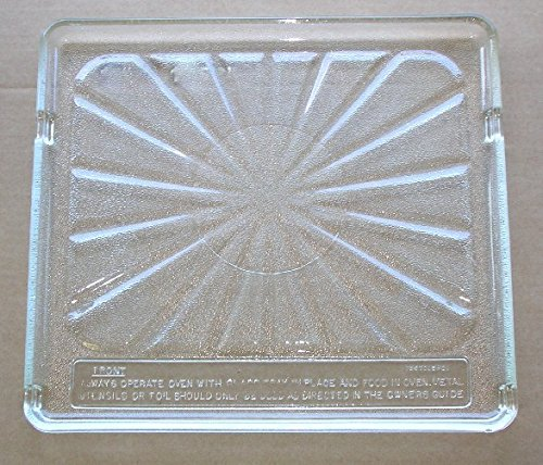 Pre Owned Microwave Oven Square Glass Plate/Tray 15 1/8