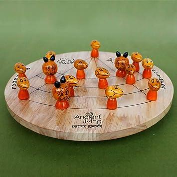 Ancient Living Puli Meka/Tigers and Lambs/Aadu Puli Aatam Board Game Crafted in Wood