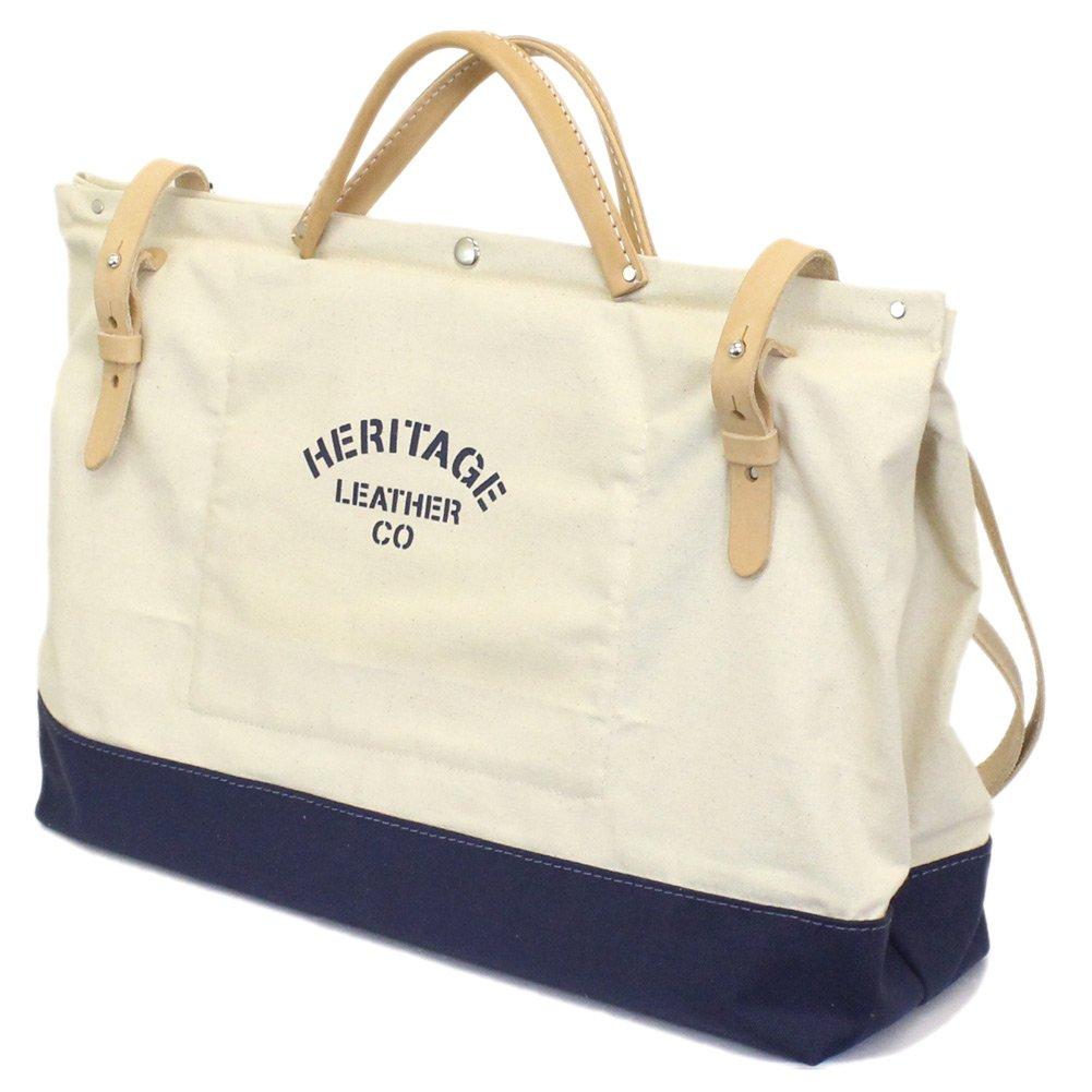 [ヘリテージレザー] HERITAGE LEATHER CO. NO.8288 20  Utility Art Bag 20インチユーティリティアートバッグ Natural x Navy HL216 B07DTGBK7L