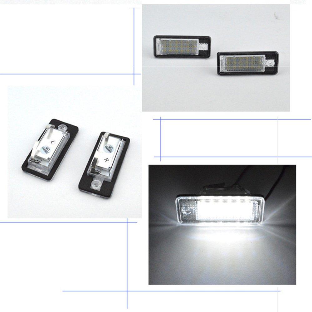 Lot de 2 ampoules 18 LED pour plaque dimmatriculation Blanc brillant 12 V 3,48 W 6500 K