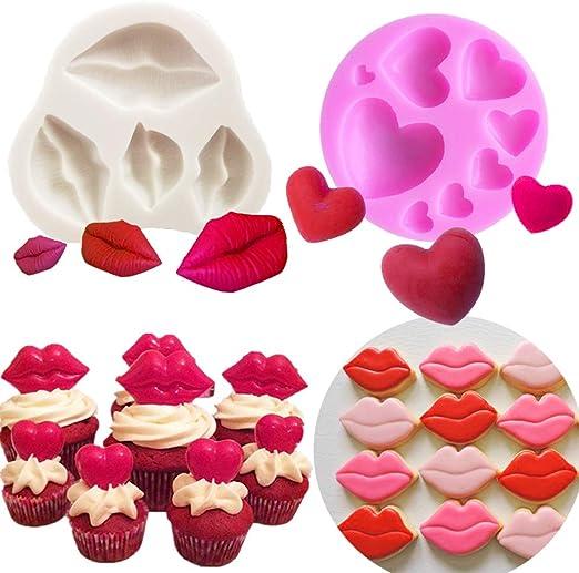 JeVenis Sexy Kiss Collection - Juego de 2 moldes para fondant ...